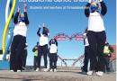 Elever och lärare på Tornedalsskolan som har antagit dansutmaningen Jerusalema challenge